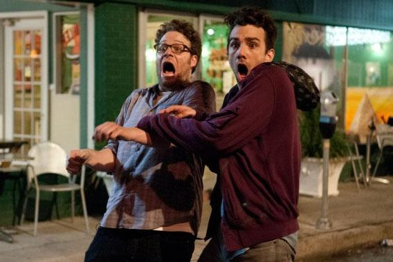 """Seth Rogen and Jay Baruchel in """"This is the End."""""""
