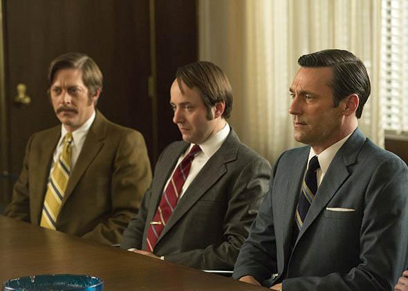 Kevin Rahm as Ted Chaough, Vincent Kartheiser as Pete Campbell a