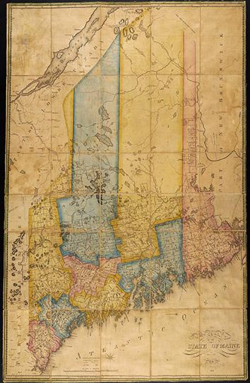 A Map of the State of Maine from the Latest and best Authorities. By Moses Greenleaf Esq. 1820.