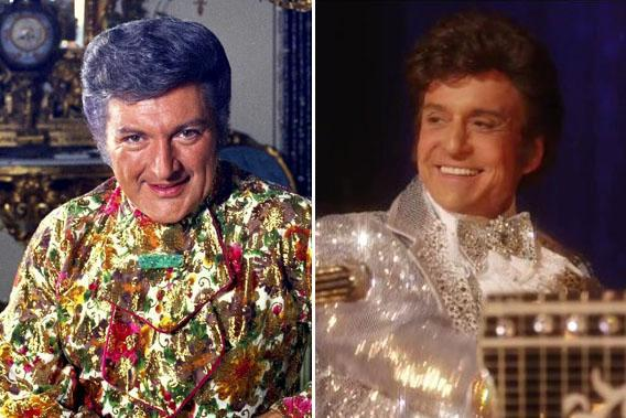 Liberace and Michael Douglas as Liberace