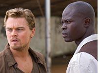 Leonardo DiCaprio and Djimon Hounsou in Blood Diamond. Click image to expand.