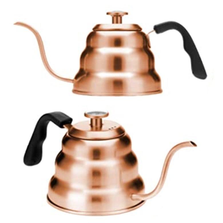 A copper kettle.