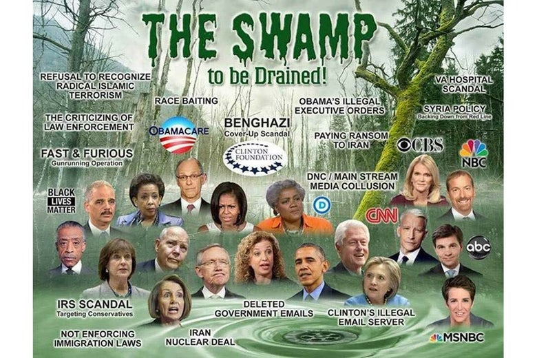 """The Swamp to be Drained!"" meme"