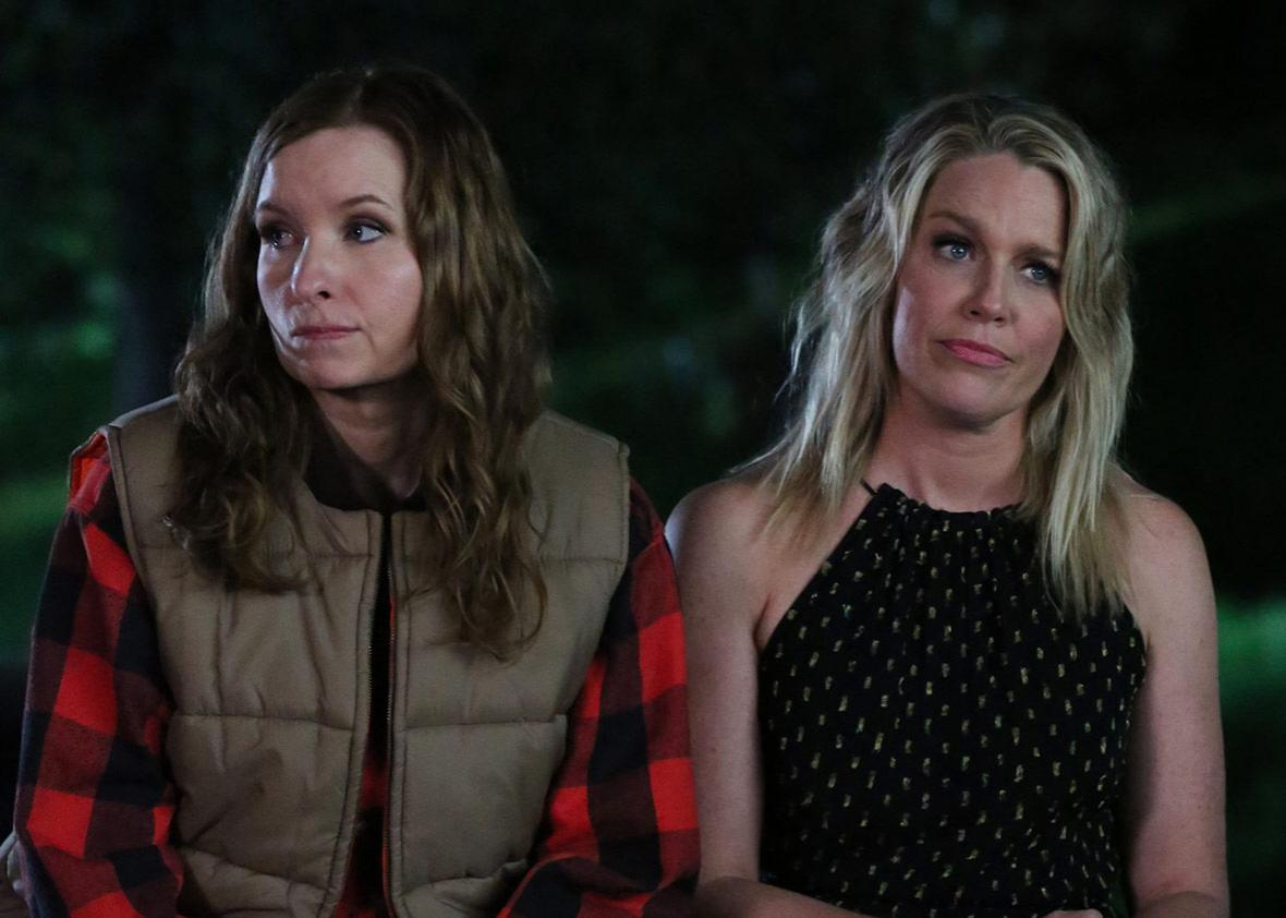 Lennon Parham and Jessica St. Clair in the third season of Playing House