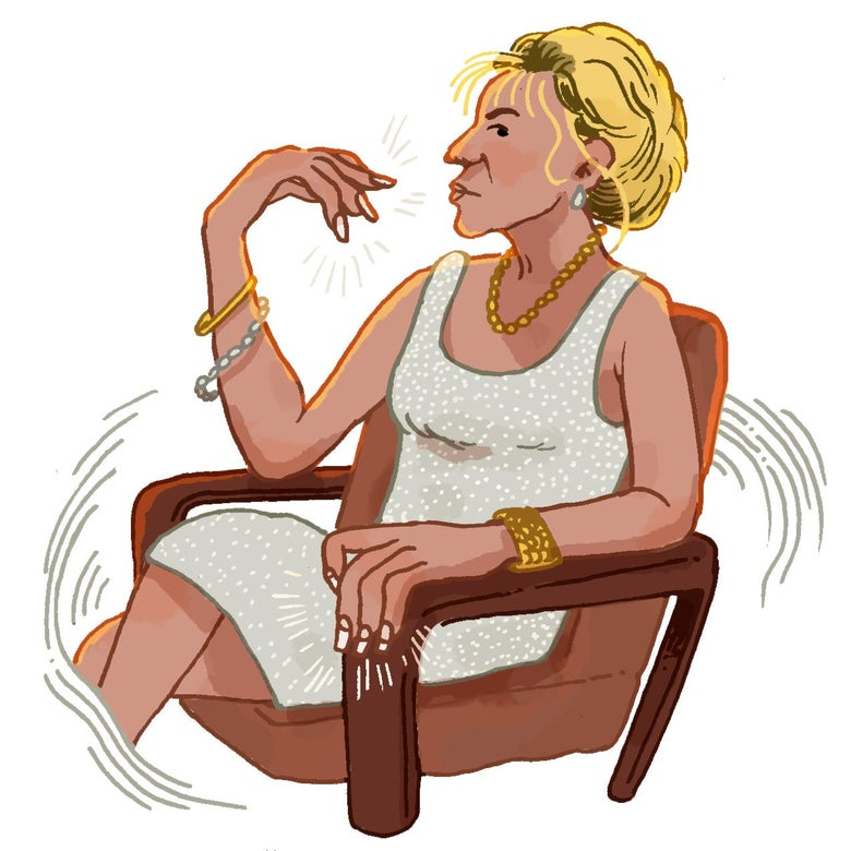 Illustration of Carmela Soprano.