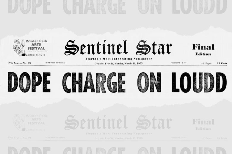 "The headline is ""Dope Charge on Loudd"""