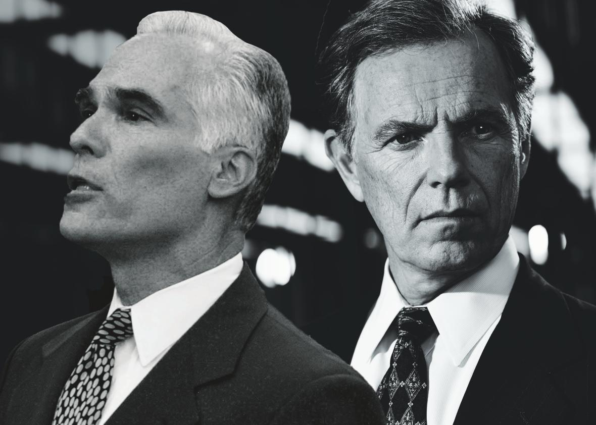 Bruce Greenwood and Gil Garcetti.