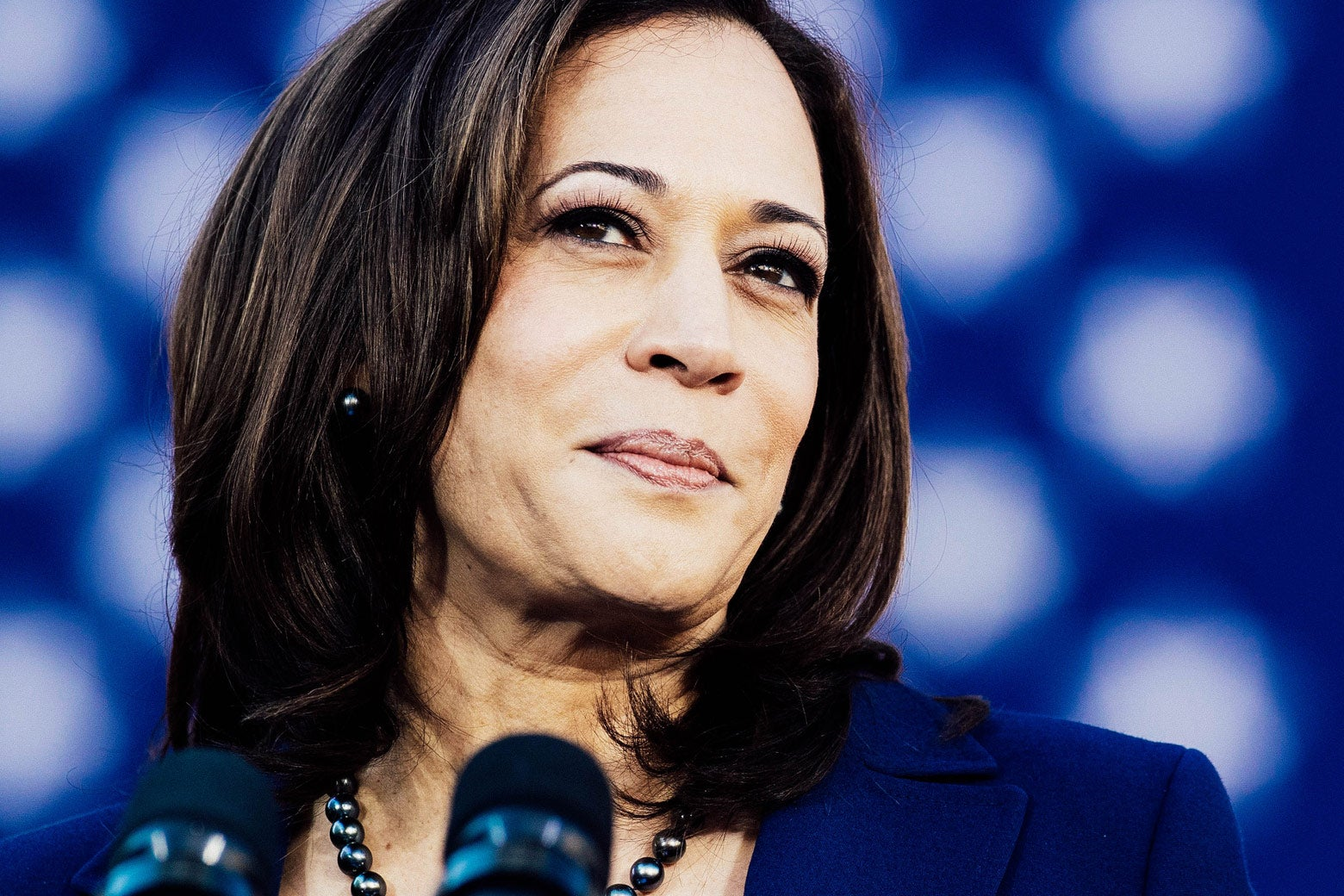 California Sen. Kamala Harris speaks during a rally launching her presidential campaign on Sunday in Oakland.