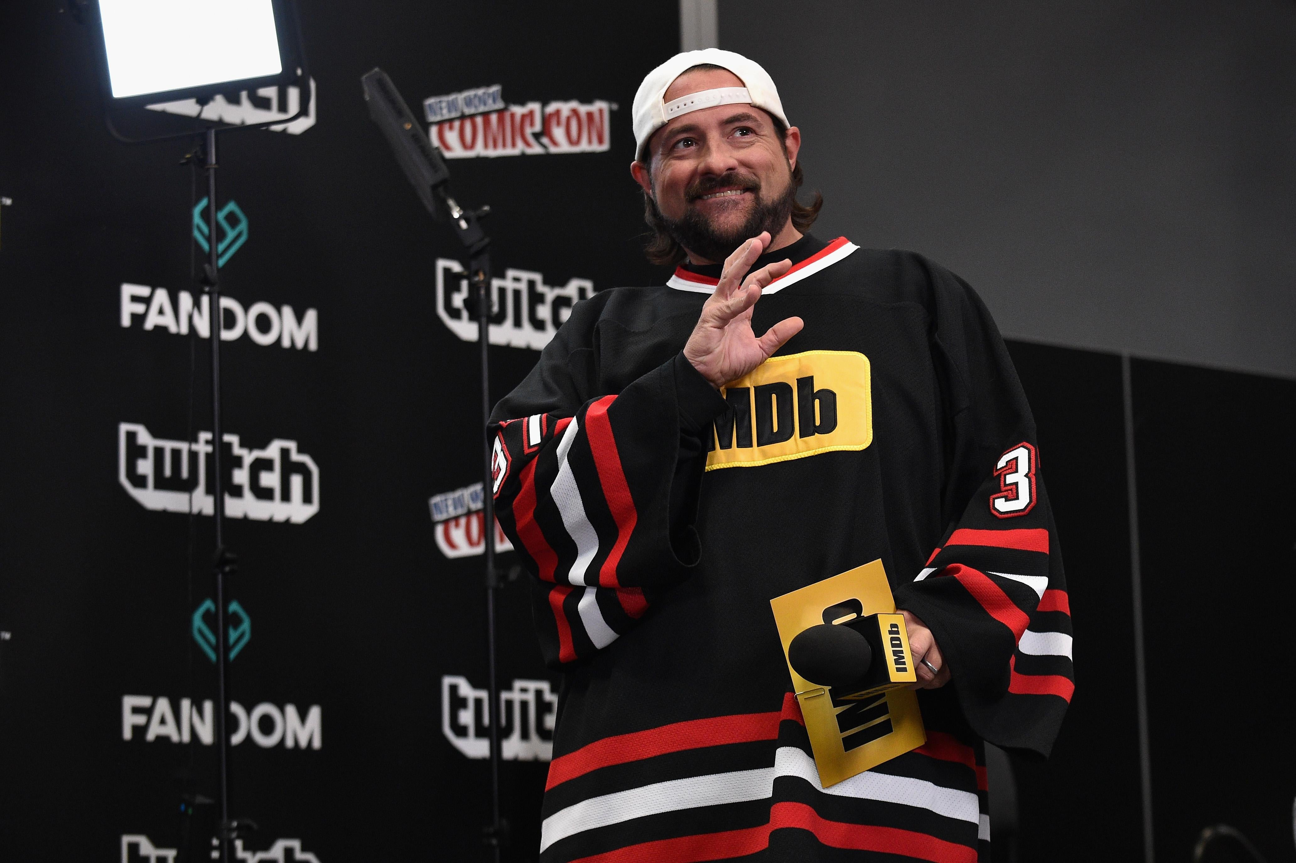 Kevin Smith hosts IMDb Live at NY Comic-Con at Javits Center.