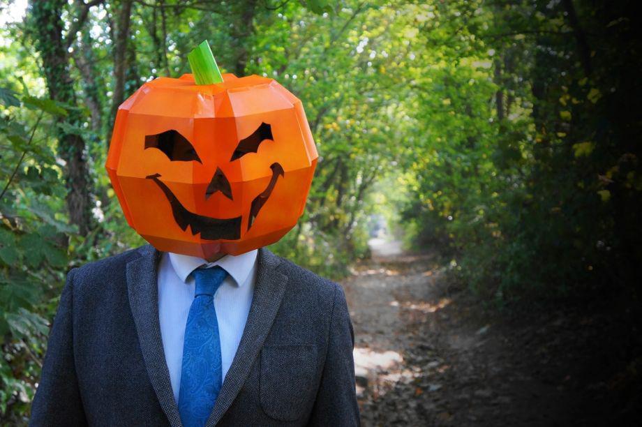 Steve Wintercroft DIY Halloween skull, wolf, and pumpkin
