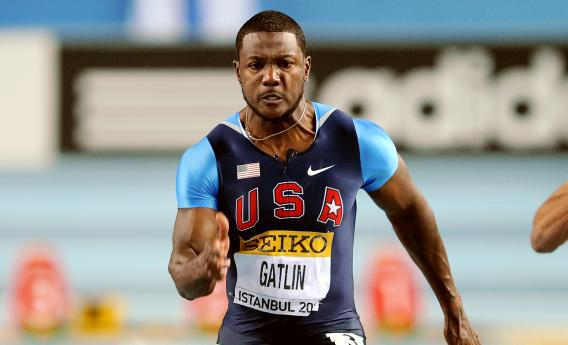Justin Gatlin at the 2012 IAAF World Indoor Athletics Championships.