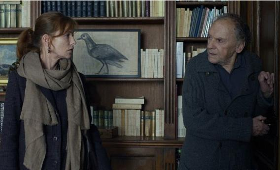 Isabelle Huppert and Jean-Louis Trintignant in Amour.