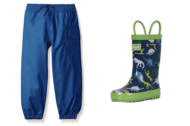 Hatley pants and rainboots