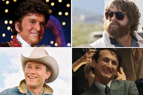 Michael Douglas, Zach Galifianakis, Heath Ledger and Sean Penn