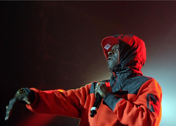 "A member of the hip hop band ""Public enemy"", performs during the 37th edition of 'Le Printemps de Bourges'"
