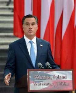 Mitt Romney in Poland.