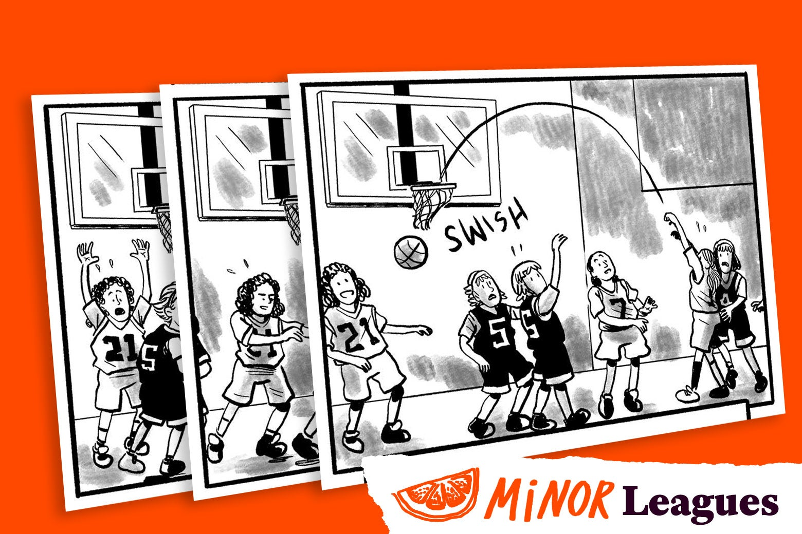 My Daughter, the Jock: images from a comic by Mike Dawson.