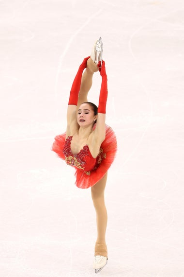 GANGNEUNG, SOUTH KOREA - FEBRUARY 23:  Alina Zagitova of Olympic Athlete from Russia competes during the Ladies Single Skating Free Skating on day fourteen of the PyeongChang 2018 Winter Olympic Games at Gangneung Ice Arena on February 23, 2018 in Gangneung, South Korea.  (Photo by Jamie Squire/Getty Images)
