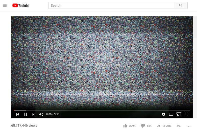 A staticky YouTube video.