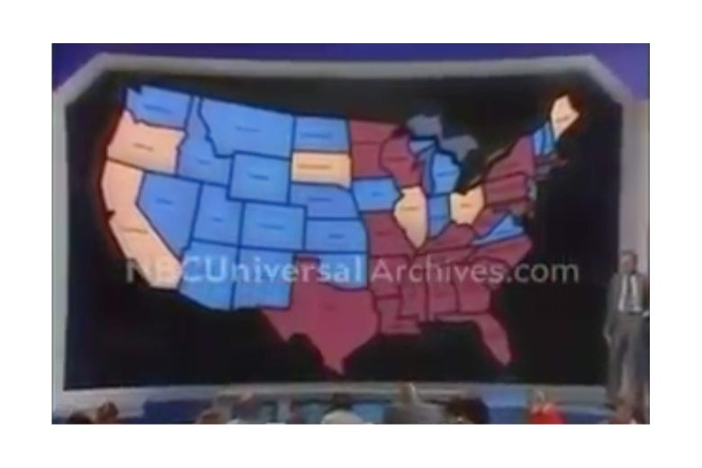 The plastic electoral college map.
