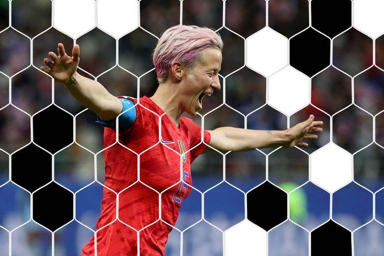 Megan Rapinoe celebrates after putting the U.S. ahead 9-0 against Thailand on Tuesday.