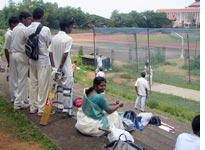 Cricket practice