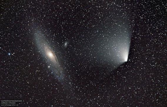 Comet Pan-STARRS and the Andromeda galaxy