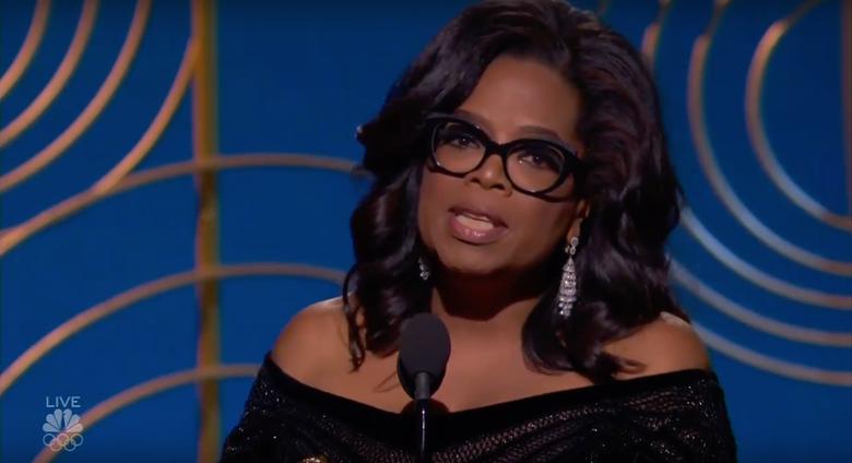 Oprah Winfrey receives the Cecil B. DeMille Award.