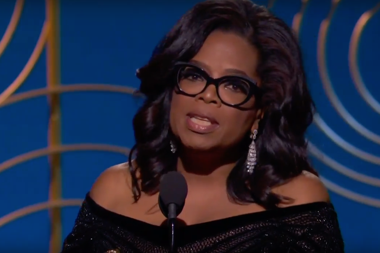 Oprah Winfrey receives the Cecil B. DeMille Award.