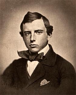Harvard graduation photo of Henry Brooks Adams.