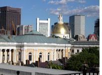 The dome of the Statehouse, taken from the roof of my building