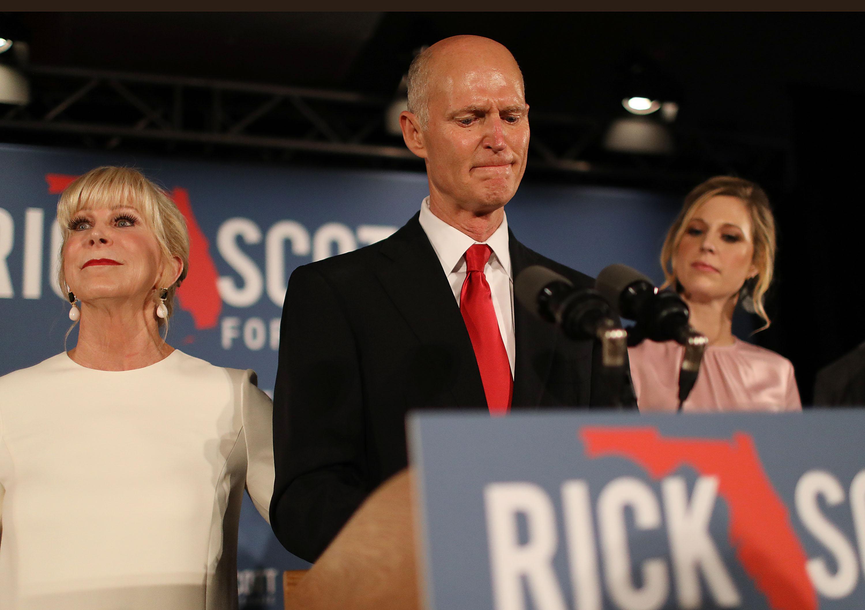 Rick Scott speaking on election night
