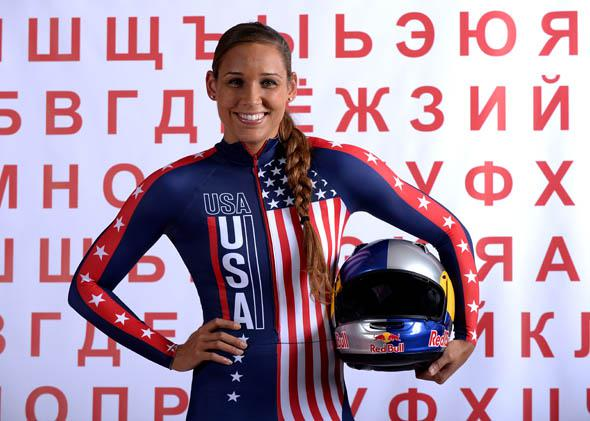 Bobsledder Lolo Jones poses for a portrait during the USOC Media Summit ahead of the Sochi 2014 Winter Olympics on September 29, 2013 in Park City, Utah.