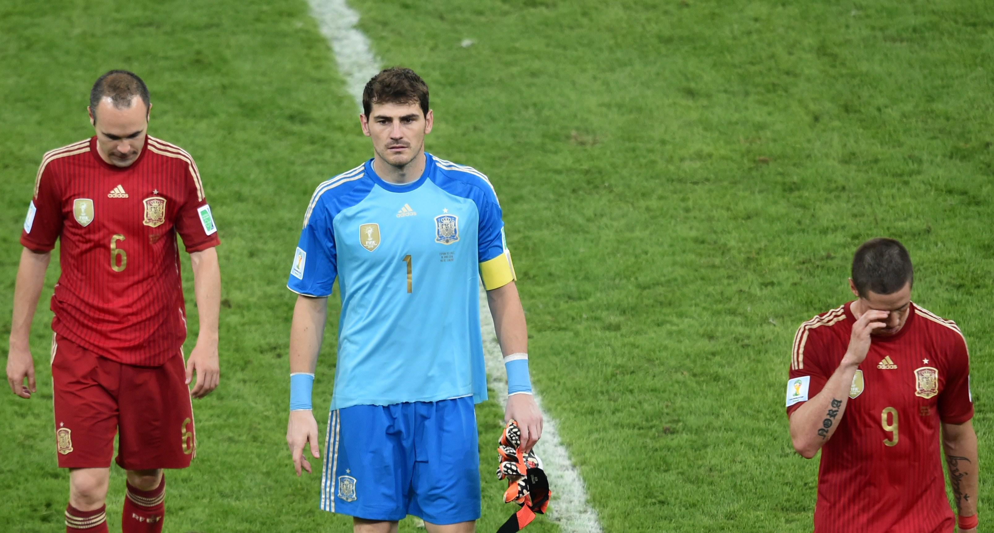 Andrés Iniesta and Iker Casillas