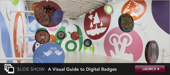 Click to launch a slideshow on digital badges.