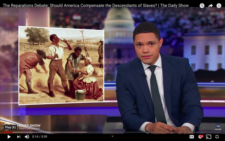 Trevor Noah Isn't Buying Conservative Arguments Against Reparations
