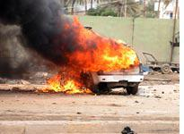 Car bomb in Iraq. Click image to expand.