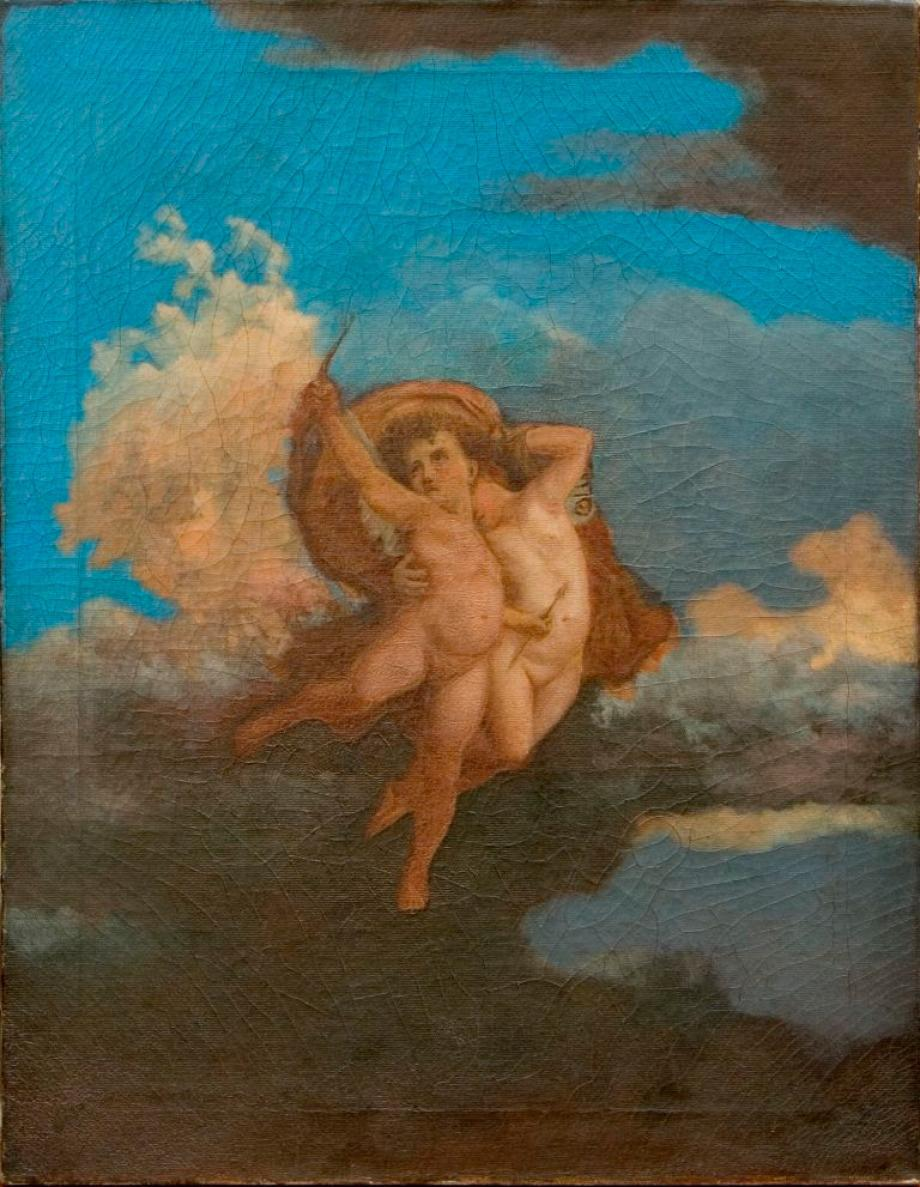 Painting of Cupid, by Lew Wallace.