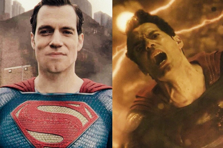 Superman in Joss Whedon's version of the film and in Zack Snyder's version.
