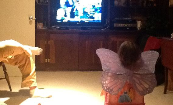 Watching the Pack with fairy wings