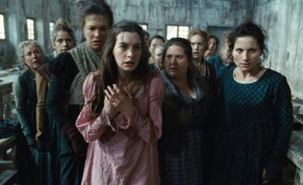Anne Hathaway in Les Misérables.