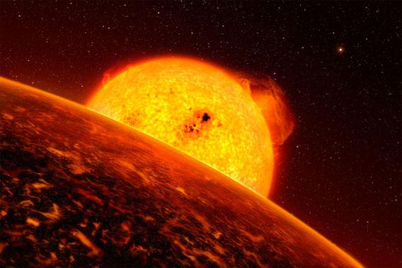 artwork of an exoplanet
