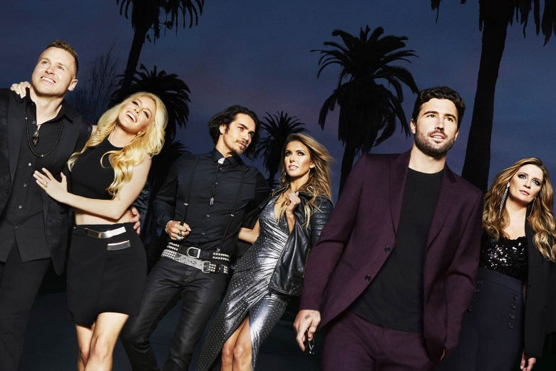 Promotional still from The Hills: New Beginnings, featuring the lead cast