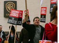 Writers guild of America on strike. Click image to expand.