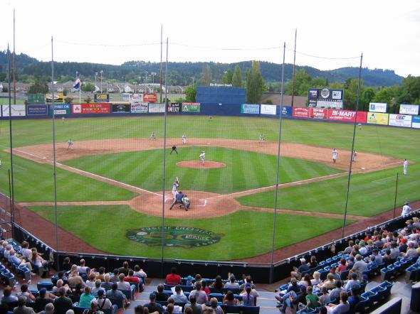 This was Eugene, Oregon's Civic Stadium, in 2004.