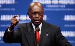 Republican presidential candidate and former Godfather's Pizza CEO Herman Cain.
