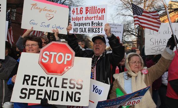 Tea Party protest.
