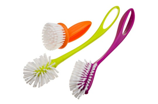 Casabella Loop 3-Piece Dish Brush Set.