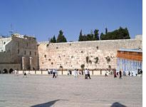 Jerusalem's Western Wall.         Click image to expand.