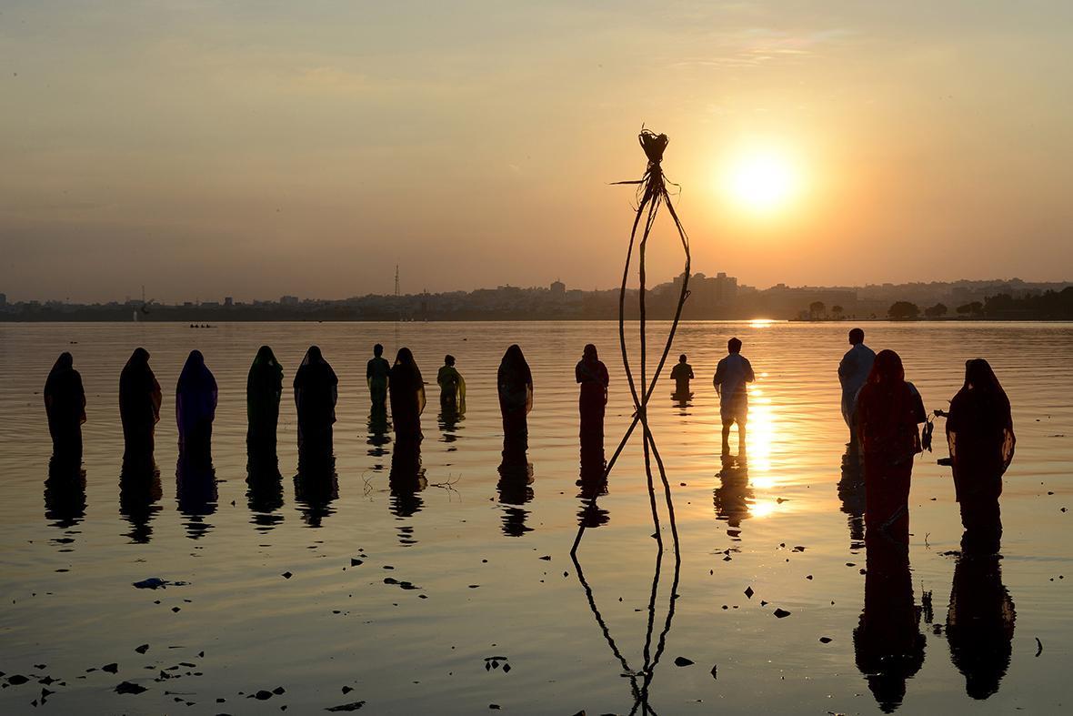 Hussain Sagar Lake in Hyderabad India